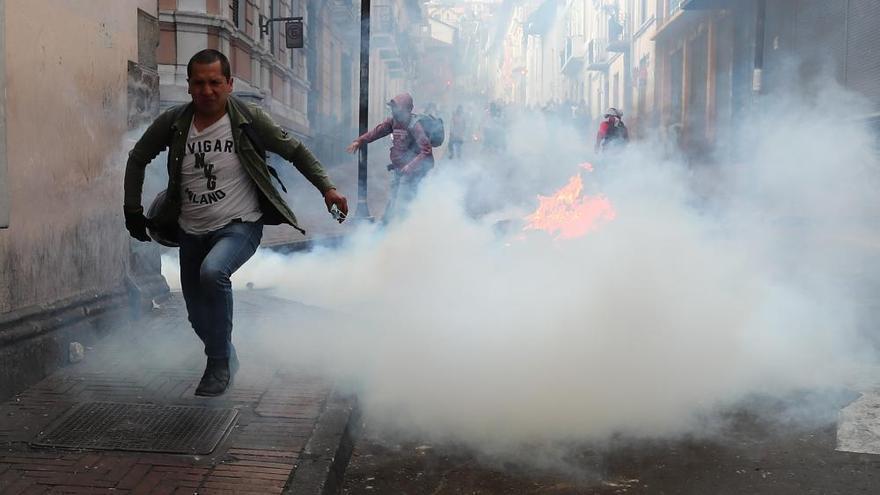 Moreno traslada su Gobierno de Quito a Guayaquil ante la magnitud de las protestas