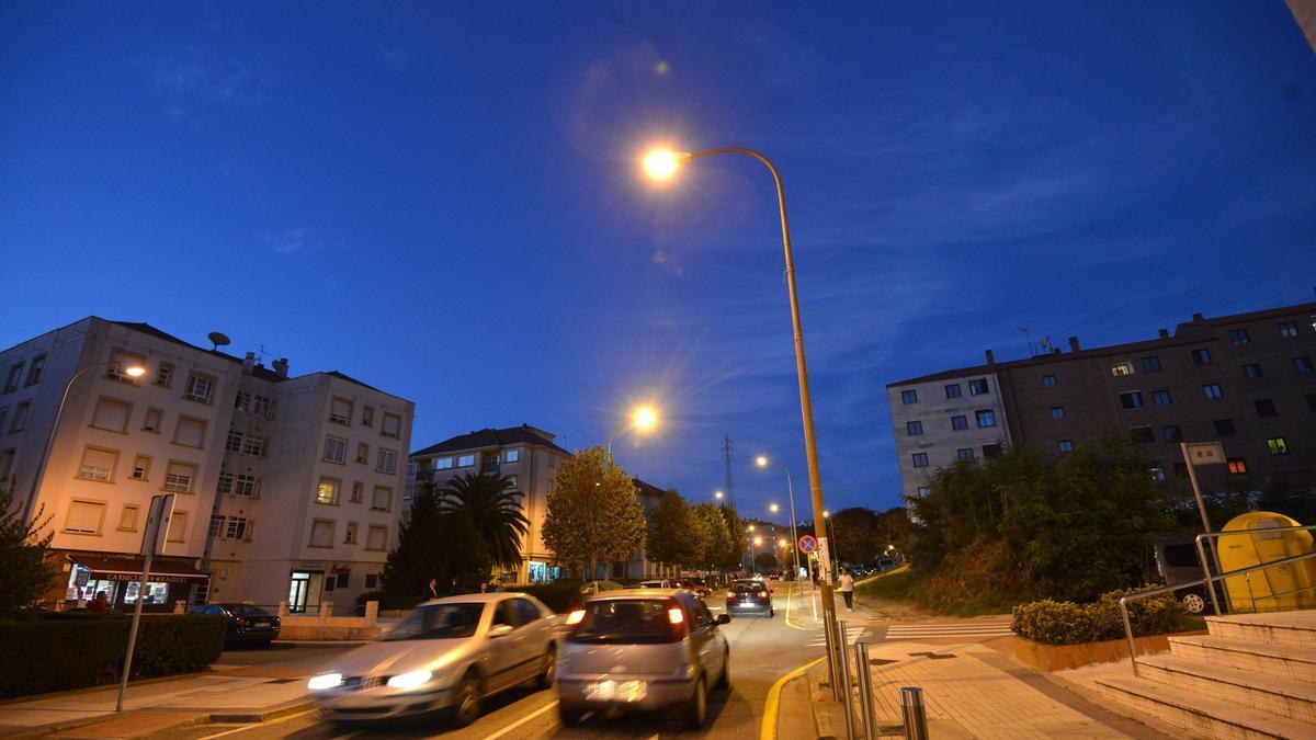 Una calle de Monte Porreiro