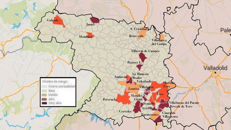 Mapa de coronavirus de Zamora, hoy, domingo | Baja la incidencia en la capital