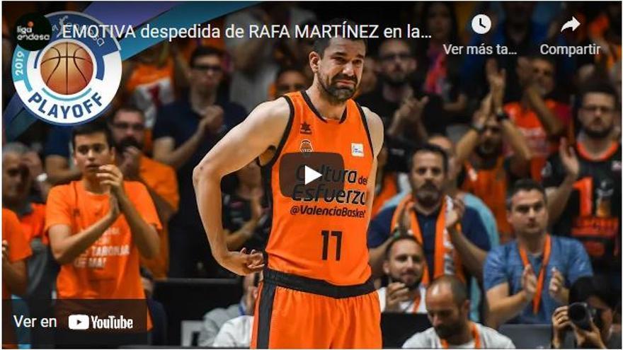 Vídeo: Así fue la emotiva despedida de Rafa Martínez del Valencia Basket