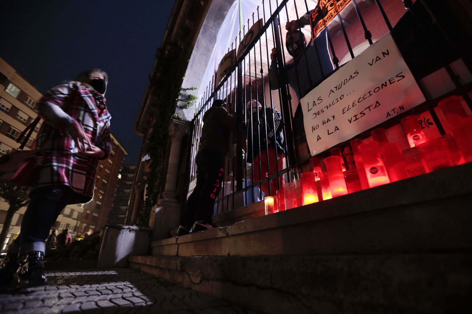 Hosteleros encerrados en La Felguera