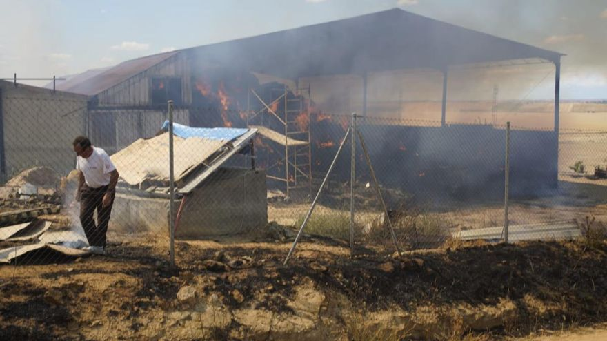 Incendio en Sanzoles.