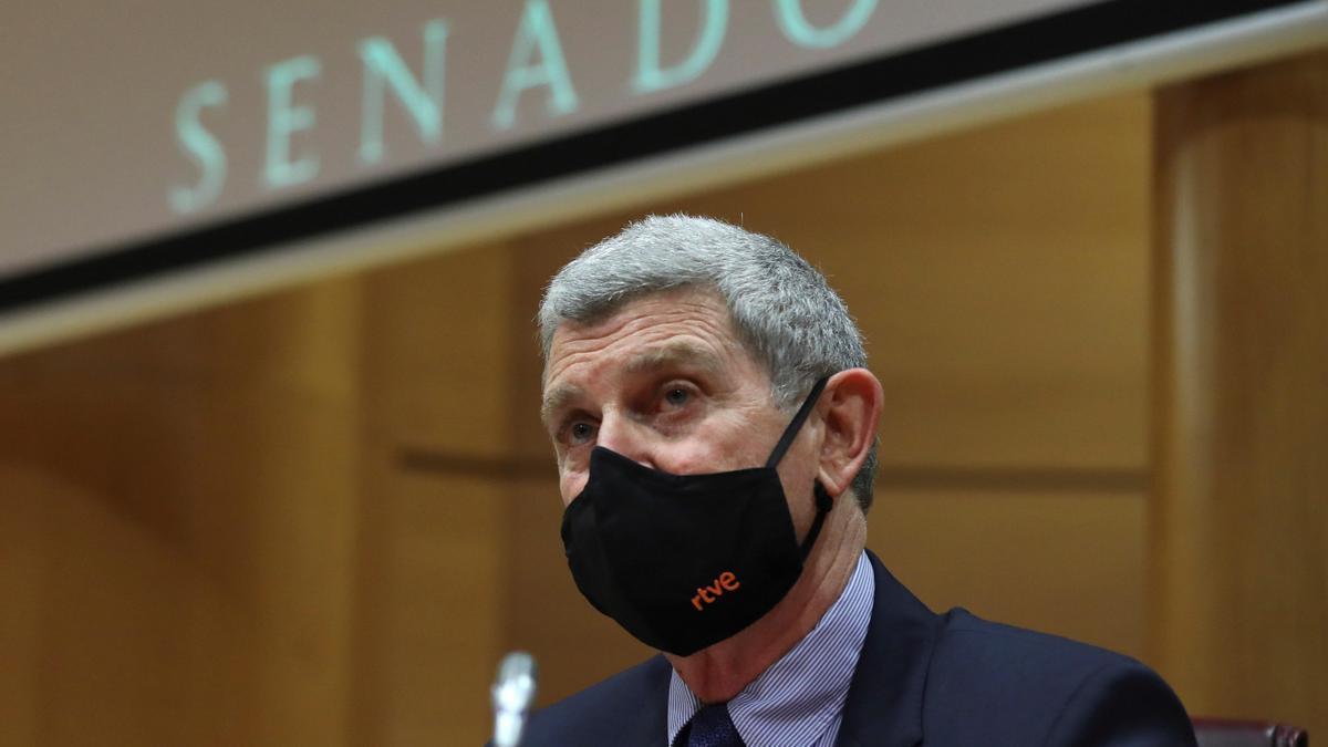 José Manuel Pérez Tornero, en su primera comparecencia en el Senado.