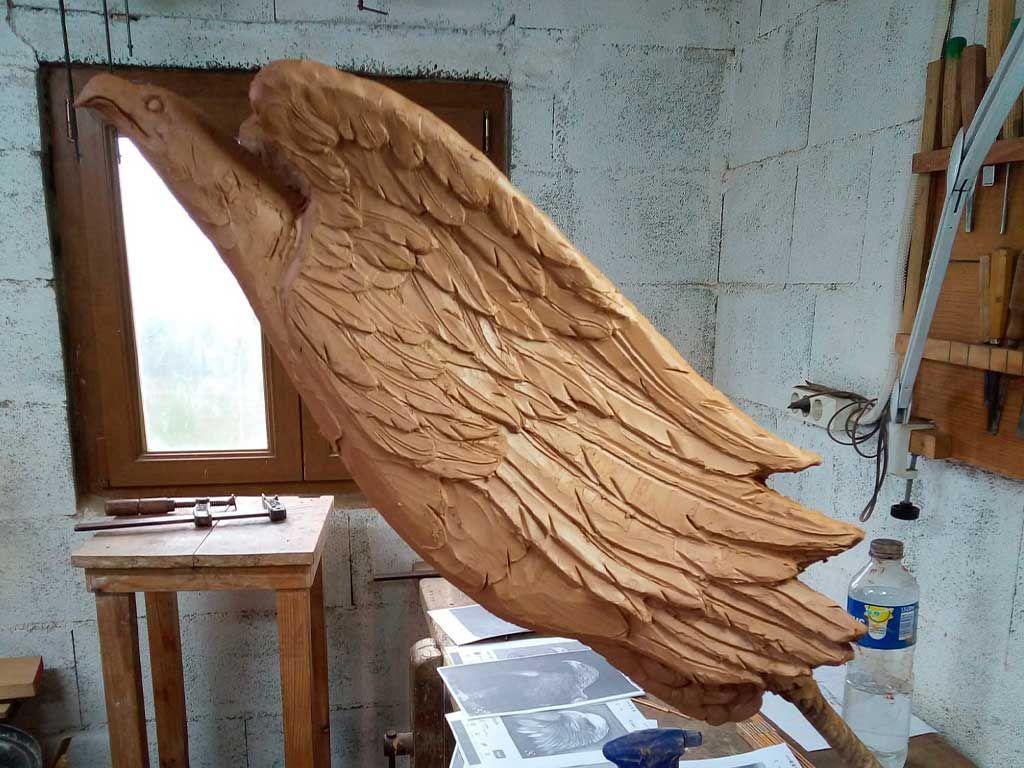 Modelo del mascarón en arcilla