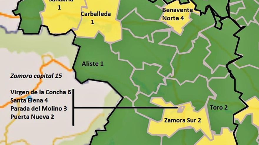 El Virgen de la Concha y el Santa Elena de Zamora superan los 2,5 positivos de COVID por 10.000 pacientes