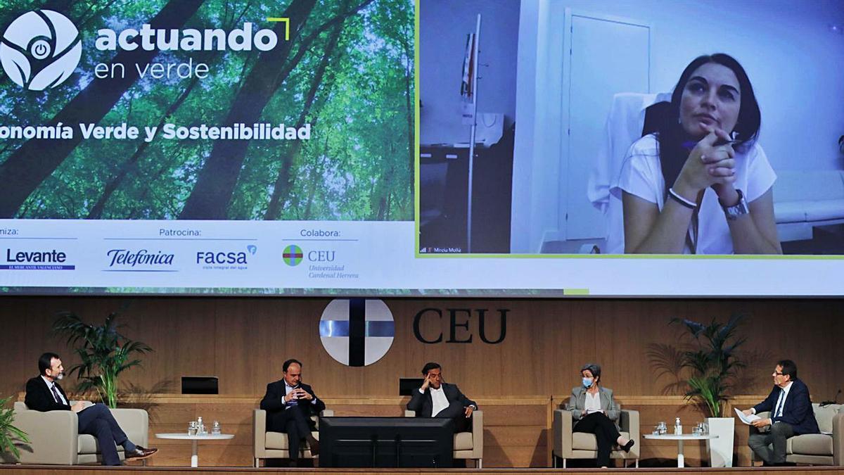 La consellera Mireia Mollà fue la encargada de clausurar la jornada vía telemática. | MIGUEL ANGEL MONTESINOS