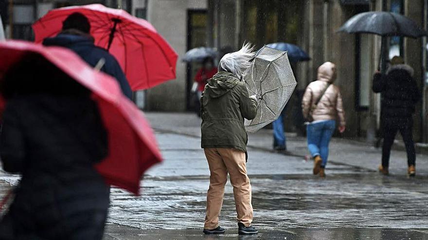 La borrasca explosiva Justine azota Galicia con fuertes vientos y lluvias