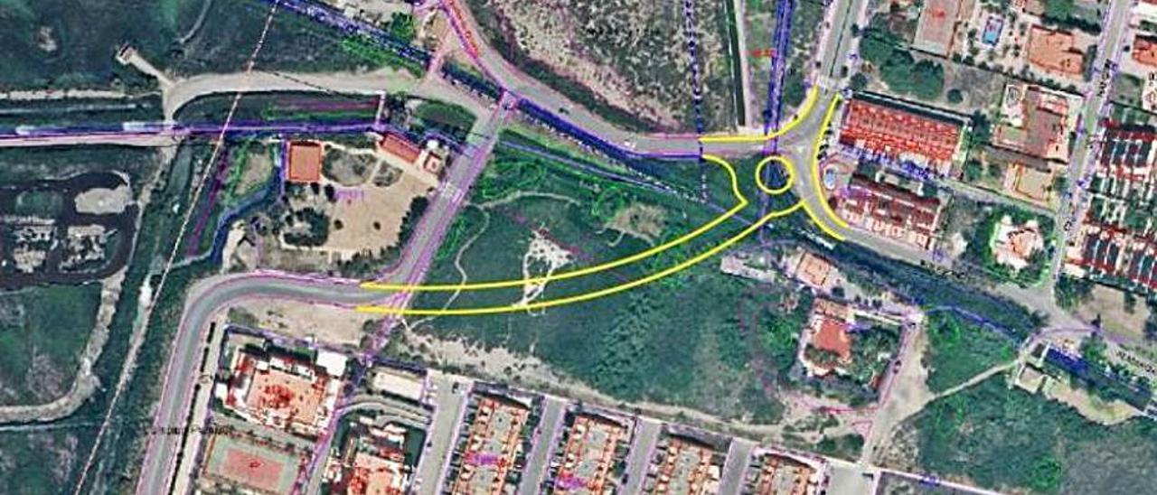 En amarillo, propuesta planteada por los vecinos. | LEVANTE-EMV