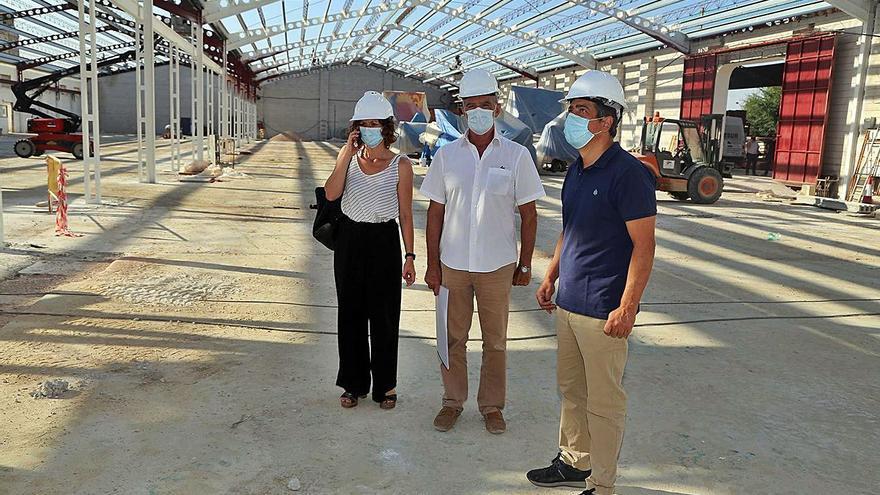 """La construcción del nuevo espacio escénico de Montilla avanza """"a buen ritmo"""""""