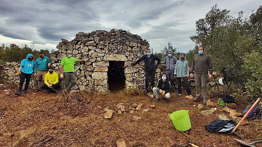 Llers rehabilitarà  més barraques de  pedra seca de la Garriga