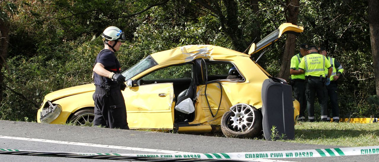 Accidente de tráfico en Cedeira
