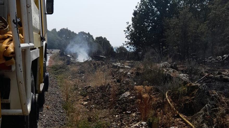 Controlado un incendio forestal en Valdescorriel