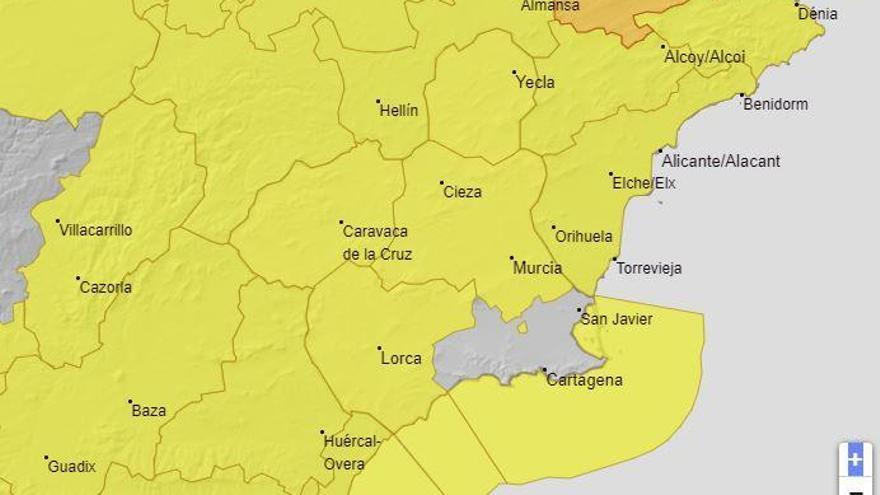 La Aemet emite el aviso amarillo por fuertes rachas del viento el viernes