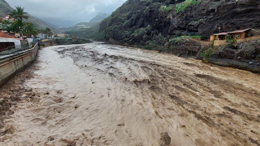 Las fuertes lluvias se dejan notar en La Palma