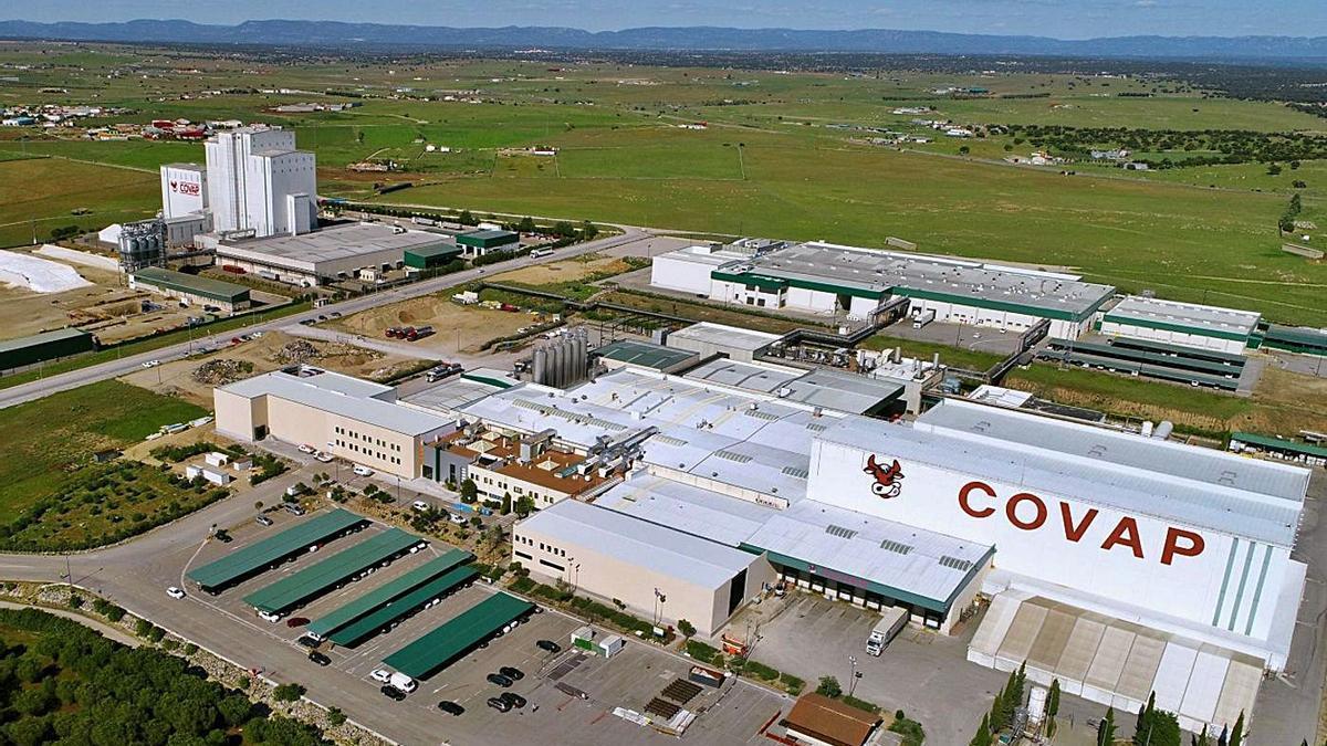 Vista aérea de la cooperativa con sede Pozoblanco, que es la que factura más en la provincia.   CÓRDOBA