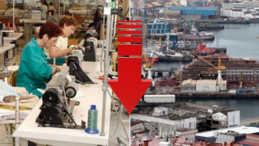 El textil y el naval lastran la recuperación del empleo en la industria de Galicia