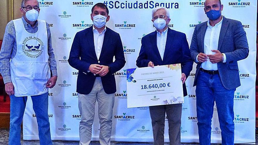 18.640 euros de las Fiestas de Mayo para 54 entidades de reparto de alimentos