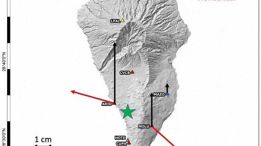 El magma detectado en La Palma acumula ya la cuarta parte de lo emitido por el Teneguía