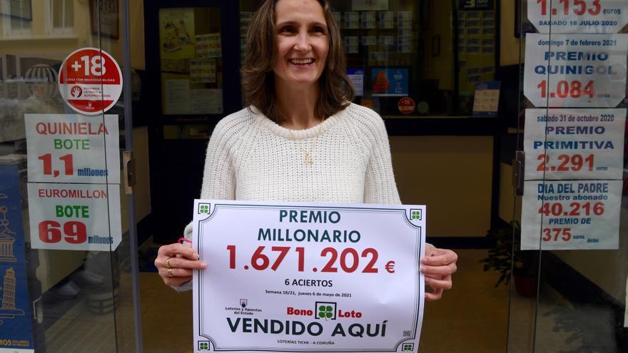 La Bonoloto deja un premio de más de 1,6 millones de euros en A Coruña