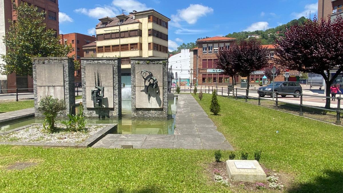 El parque de Ciaño, donde se celebrará el homenaje