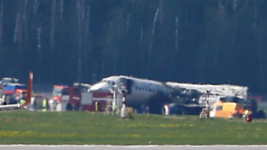 Publican imágenes del accidente de avión de Moscú