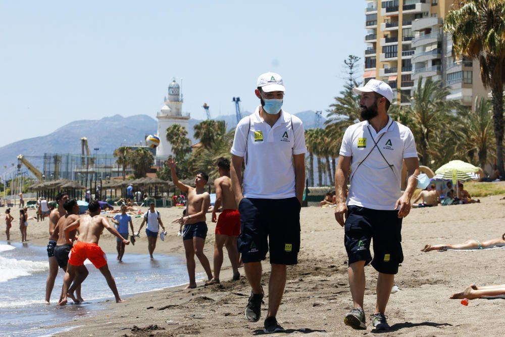 Las playas de Málaga, controladas por los vigilantes