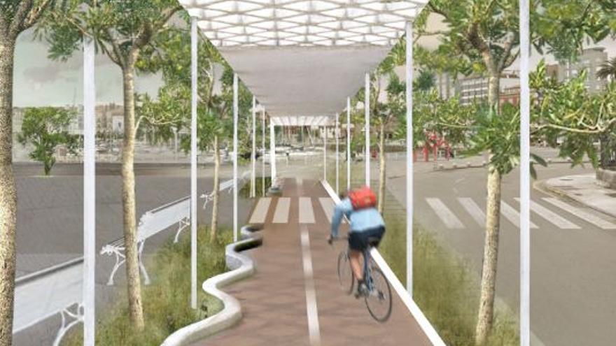 El plan más acuático para la fachada oeste: piscinas, gradas al mar y coches a 20 km/h