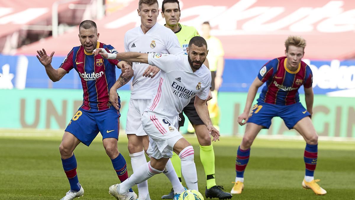 Una imagen de un encuentro entre Barcelona y Real Madrid.