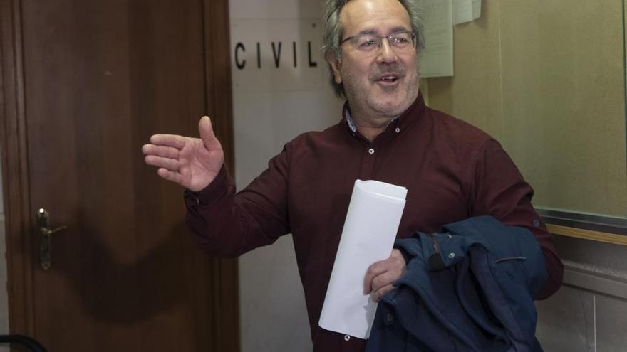 Francisco Guarido, antes de entrar a declarar por esta causa
