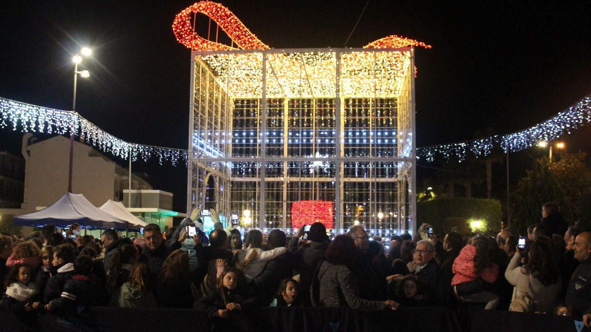 Imagen de la inauguración del alumbrado navideño en 2018.