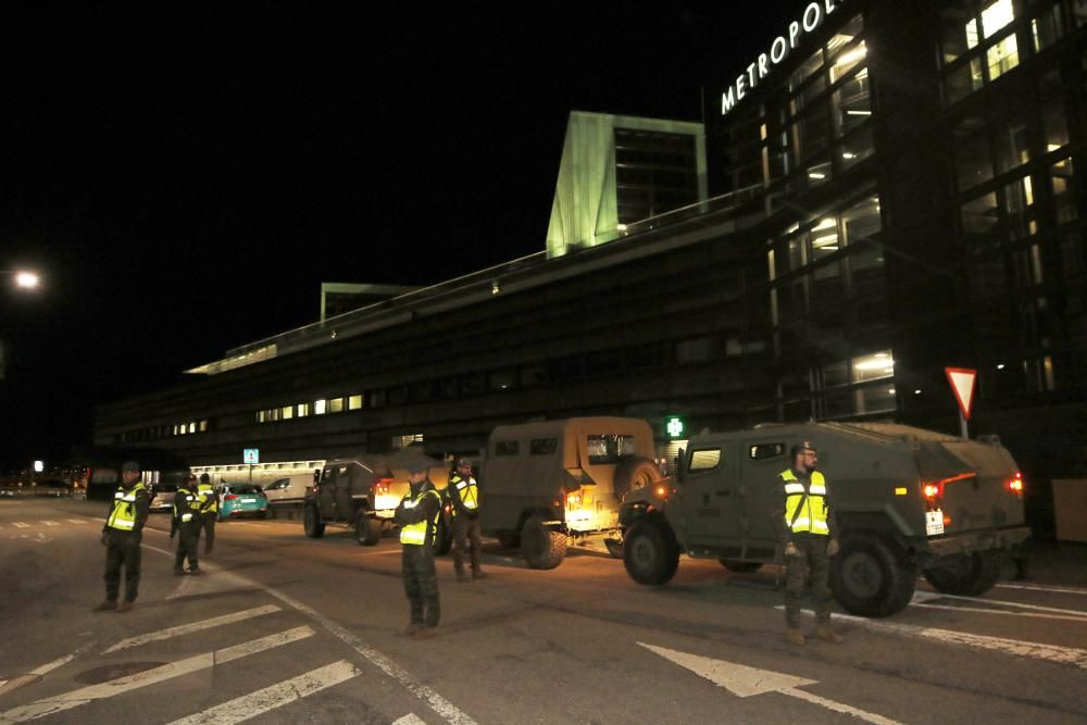 Los militares ya patrullan diferentes calles de Vigo para asegurar que se cumple con el decreto del estado de alarma