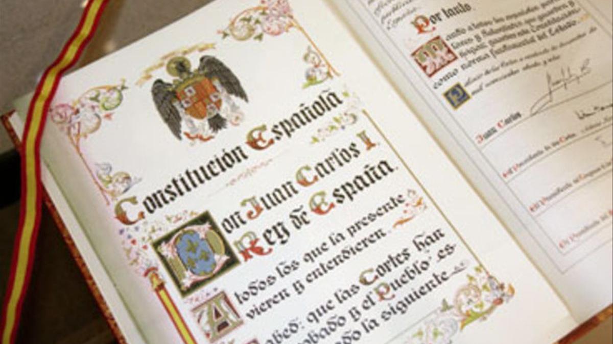 Ejemplar original de la Constitución de 1978