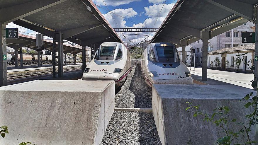 Pruebas con trenes AVE a máxima velocidad entre Pedralba y Ourense