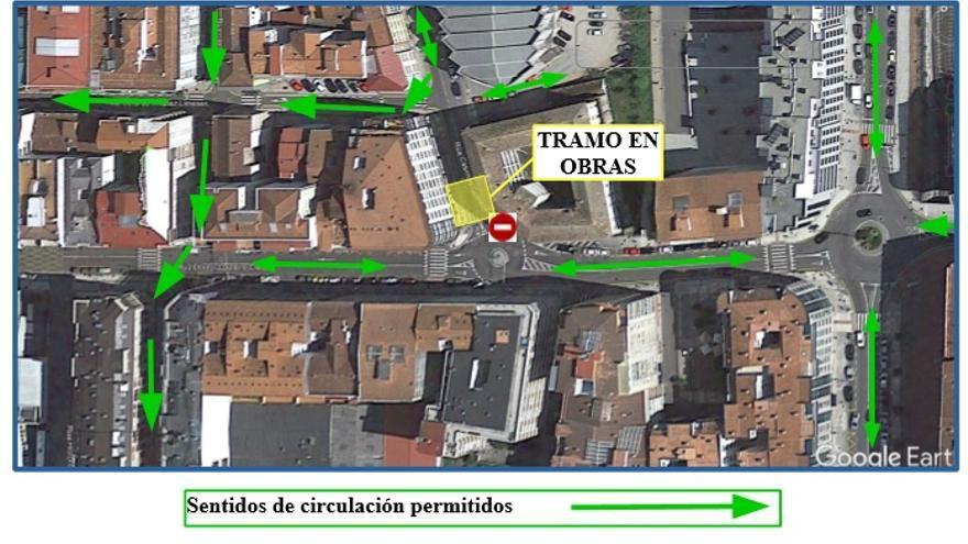 Nuevos cortes de tráfico por obras en Loureiro Crespo y Casimiro Gómez