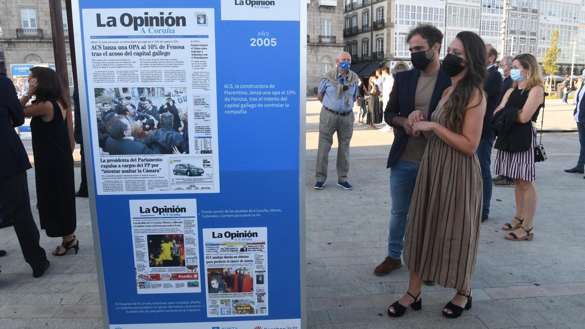 Los veinte años de LA OPINIÓN a través de una exposición con algunas de las portadas más destacadas.
