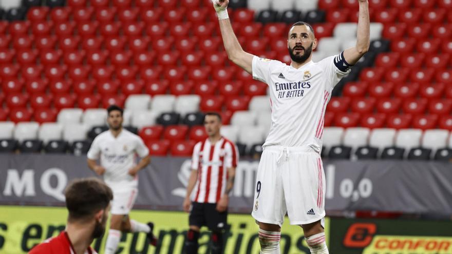 El Real Madrid se impone al Athletic, pero no logra el asalto al liderato