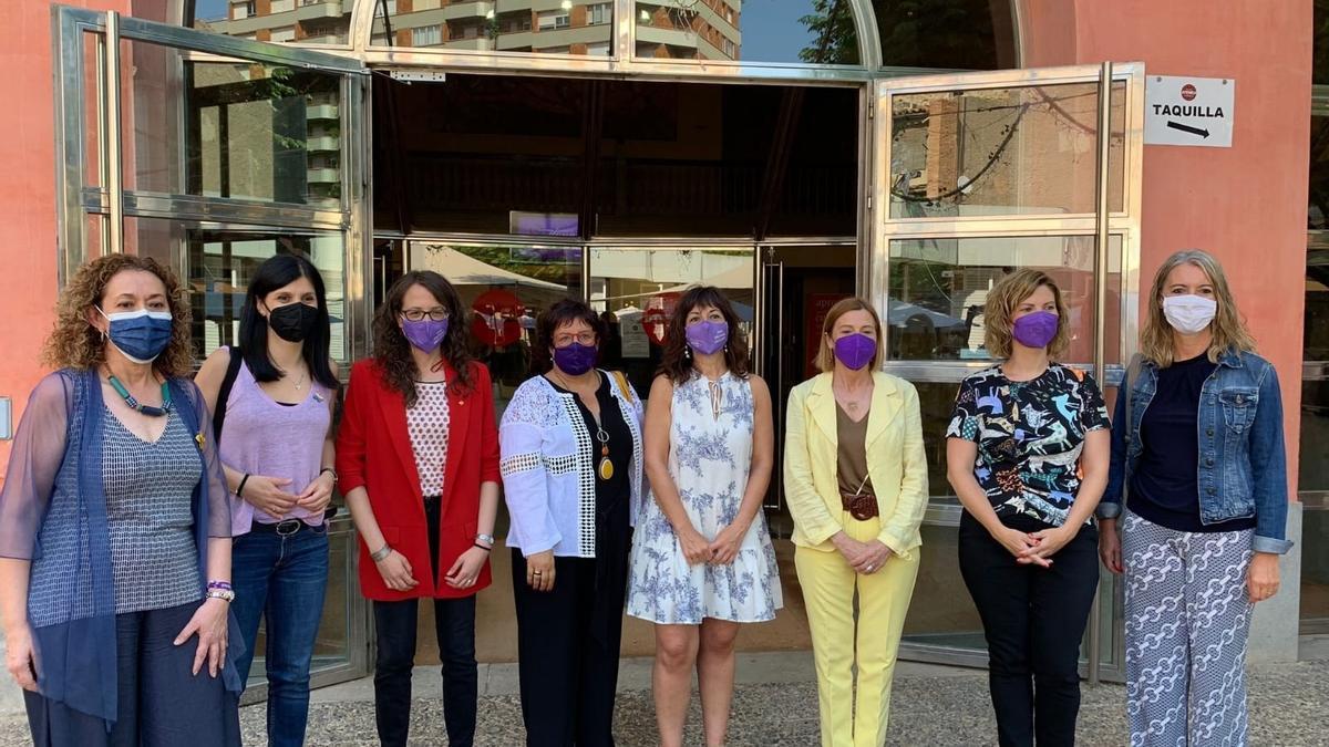 Membres d'ERC abans de participar a l'Assamblea Nacional de Dons del partit a Tàrrega (Lleida).