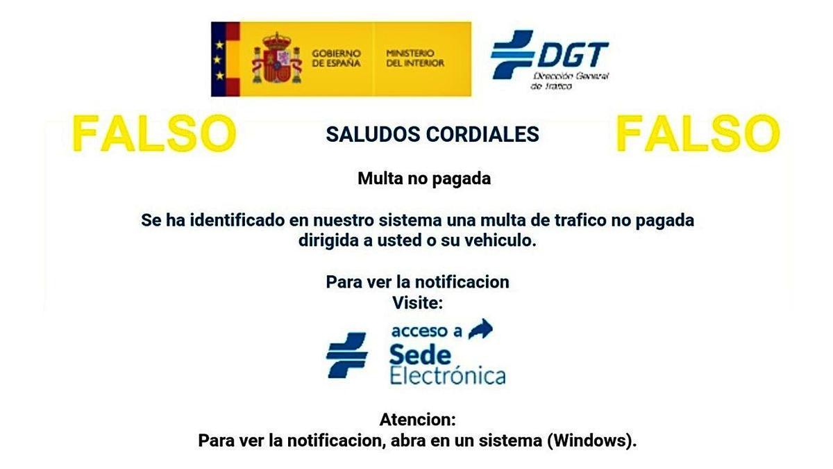 La DGT avisó en los últimos meses del falso timo de las multas sin pagar. |   // L. O.