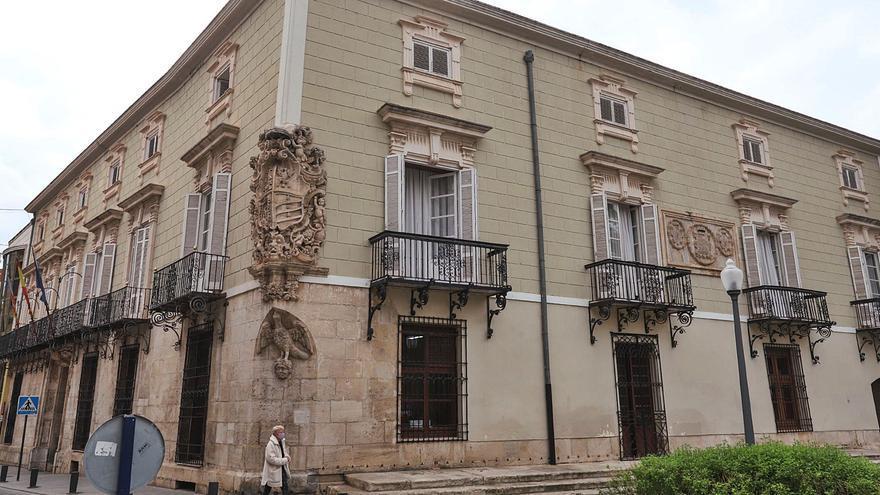 Daños en la estructura y goteras por la DANA centran la reforma del Palacio Marqués de Arneva de Orihuela