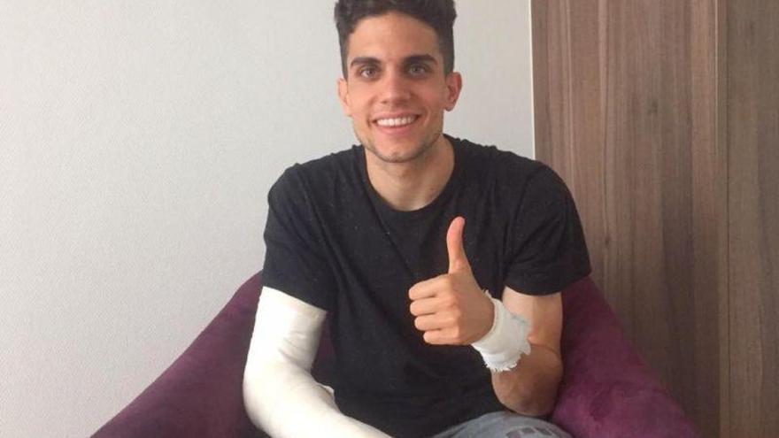 Marc Bartra muestra las heridas tras abandonar el hospital