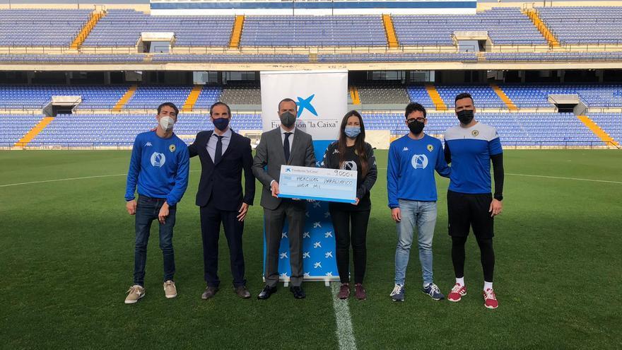 El fútbol adaptado del Hércules C.F. recibe apoyo de la Fundación «la Caixa»