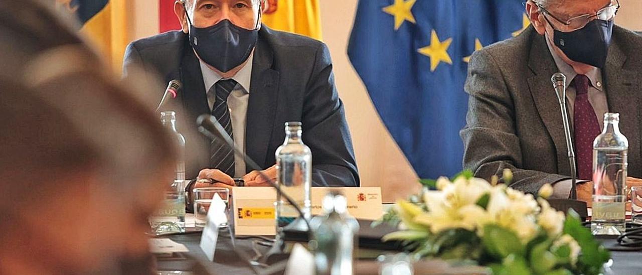 El ministro de Justicia, Juan Carlos Campo, durante la reunión de la Conferencia Sectorial de Justicia en Santa Cruz. | | MARÍA PISACA