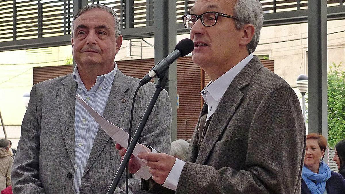 El figuerenc Enric Pujol pronunciant un parlament, en una imatge d'arxiu. | CONXI MOLONS