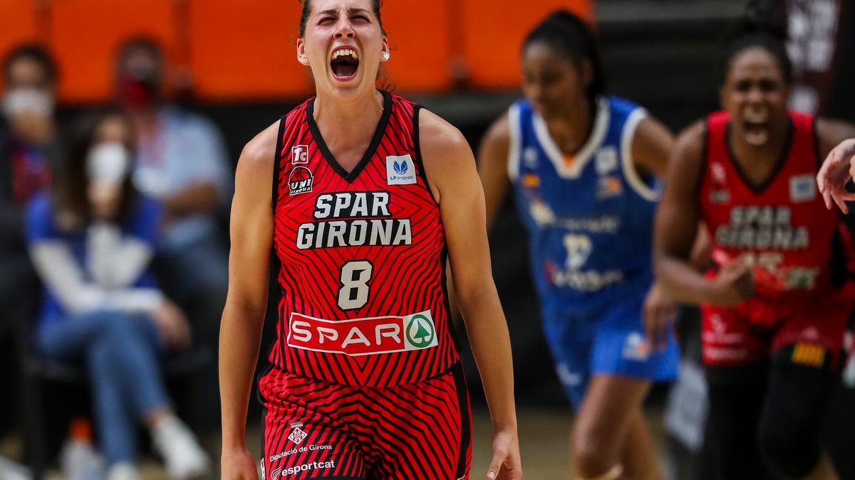 María Araújo, durante la final de la Copa de la Reina. / E. P.