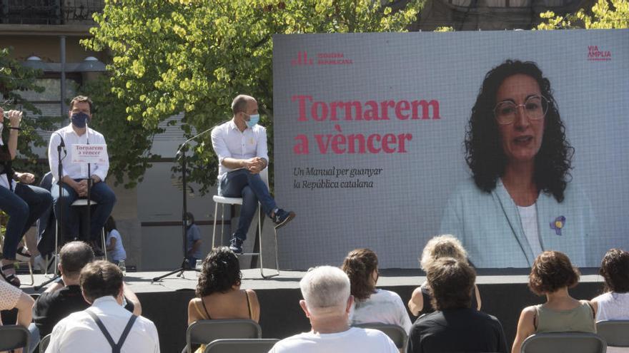 Aragonès demana a Manresa sumar més gent a l'independentisme per «desbordar» l'estat