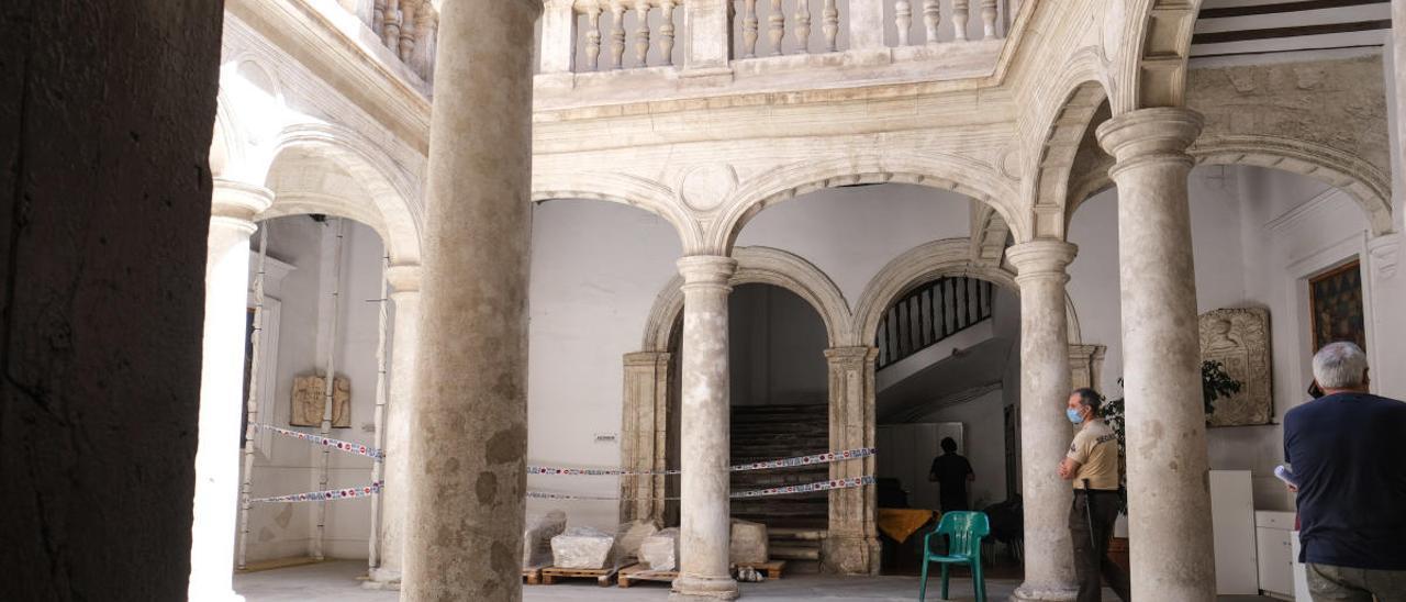 Estado actual de la Casa Consistorial de Villena a la espera de las obras de rehabilitación