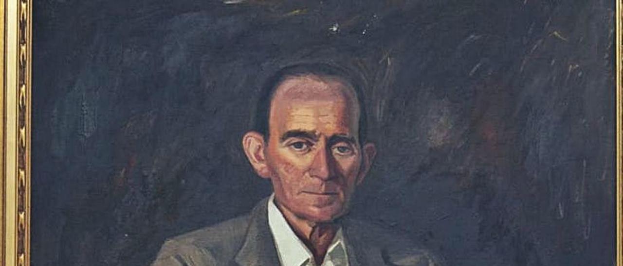 Retrato del pintor de Corbera Basilio Bañuls.