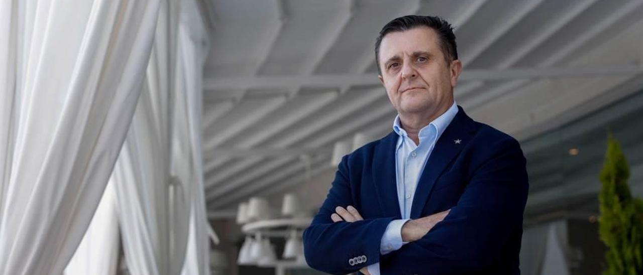 Aurelio Sánchez, en el hotel Grand Portals Nous de Palma de Mallorca.