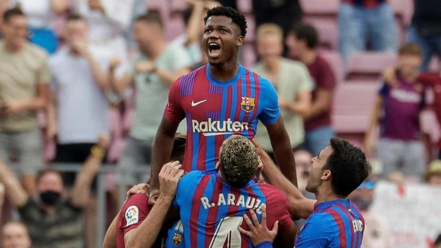 El Barça venç sense dificultats el Llevant i Ansu Fati torna a marcar (3-0)
