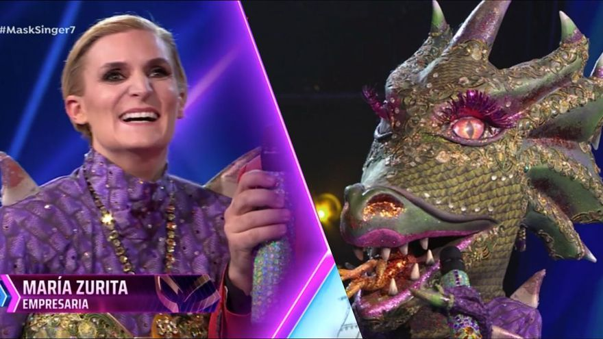 María Zurita era Dragona y Pepe Reina era Pingüino en 'Mask Singer 2'